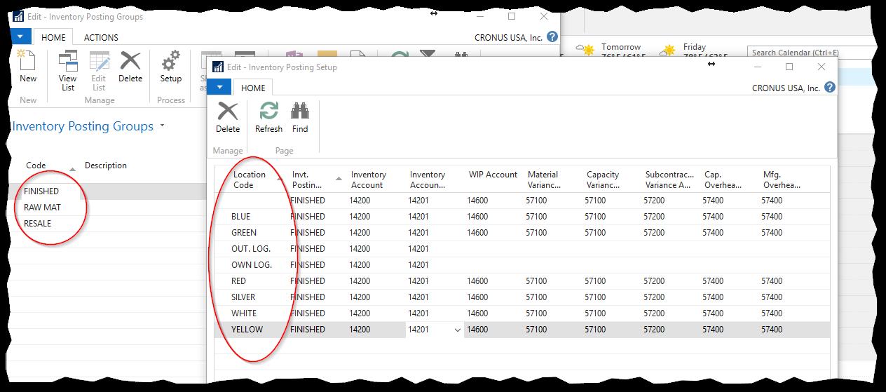 DynamicsNAV-InventoryLocationPostingSetup